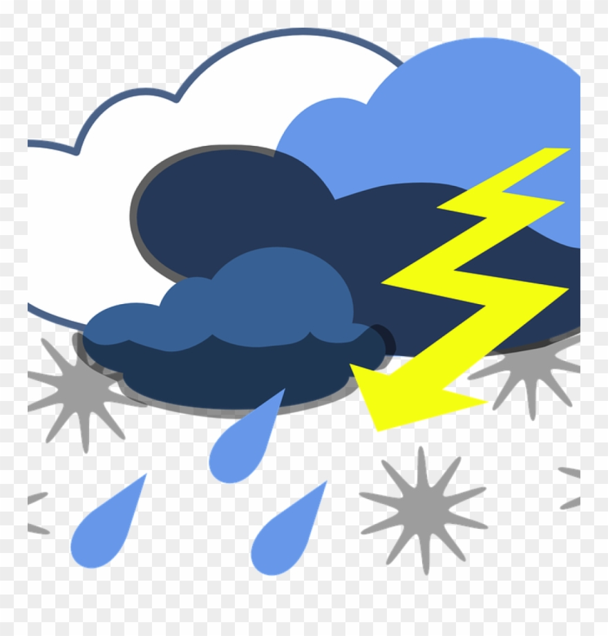 Thunder and lightning images clipart svg Storm Clipart Lightning Thunder Free Vector Graphic - Weather Clip ... svg