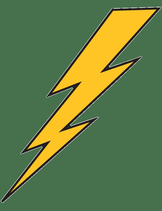 Lightning bolt clipart graphic transparent download Lightning Bolt Yellow With Black Outline transparent PNG - StickPNG graphic transparent download