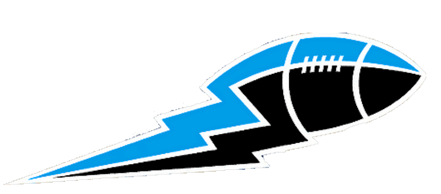 Lightning bolt football clipart png free stock Blue And Black Football Lightning Bolt Big | Free Images at Clker ... png free stock