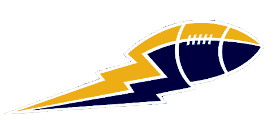 Lightning bolt football clipart png black and white download Yellow And Blue Football Lightning Boltbig | Free Images at Clker ... png black and white download