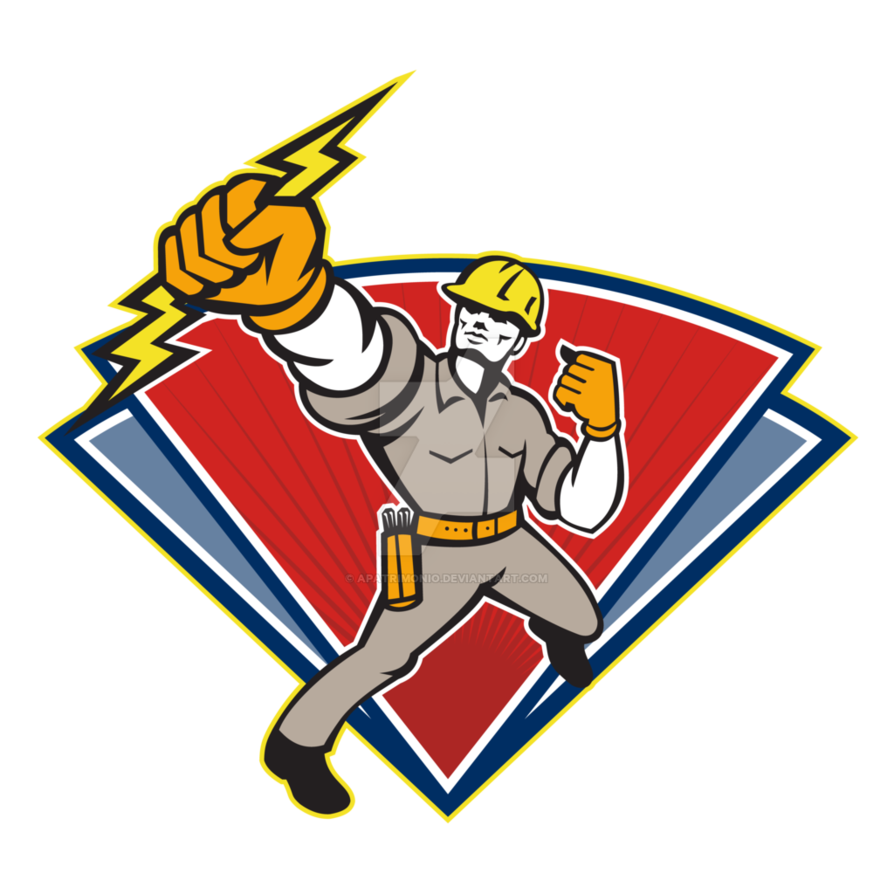 Lightning bolt football clipart royalty free stock Electrician Punching Lightning Bolt by apatrimonio on DeviantArt royalty free stock