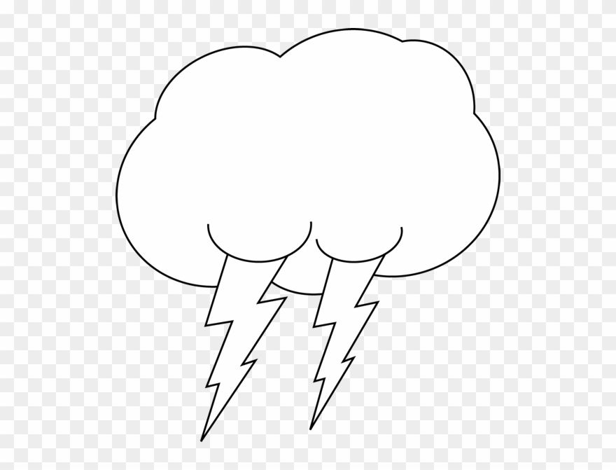 Lightning clipart black and white png download Cloud Black And White Cloud Black And White Clipart - Black And ... png download