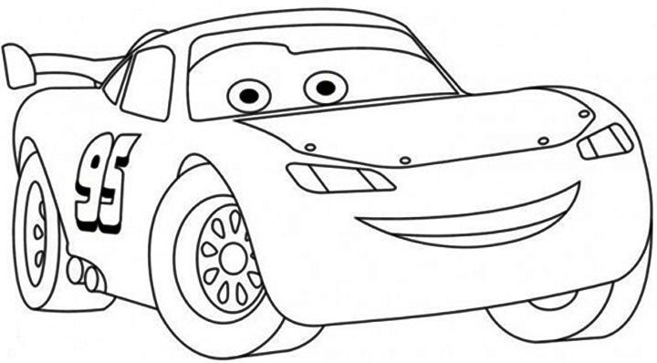 Lightning mcqueen cars clipart black and white svg freeuse stock Free Printable Lightning McQueen Coloring Pages for Kids | print ... svg freeuse stock