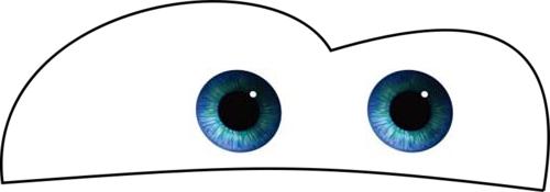 Lightning mcqueen eyes clipart