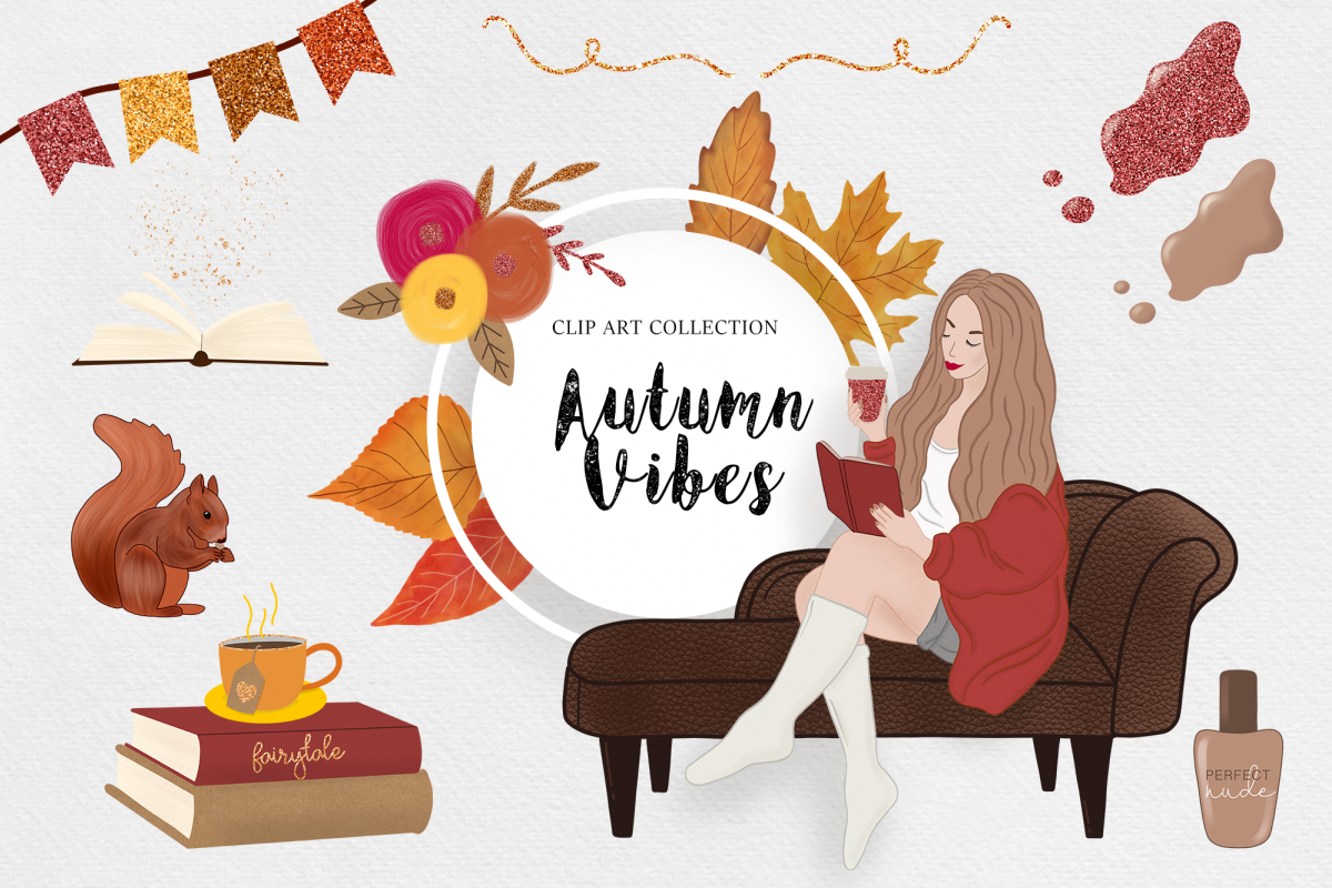 Lightroom clipart support transparent library Autumn Clipart, Fashion Girl, Digital Backgrounds Fall Vibes transparent library
