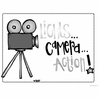 Lights camera action clipart black and white jpg free Lights Camera Action Tools Free Black White Clipart - Lights Cameras ... jpg free