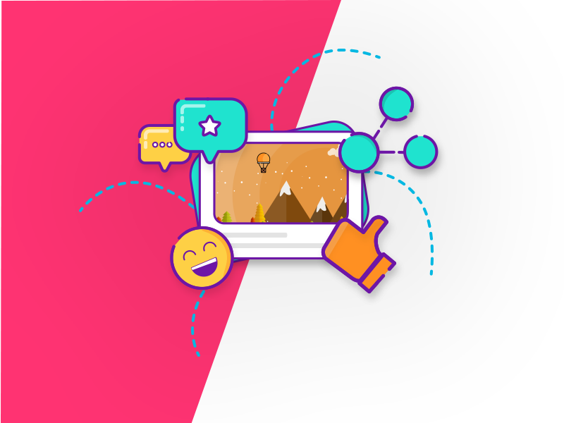 Like comment share clipart clip library library Share Like Comment On Post by saikiran on Dribbble clip library library