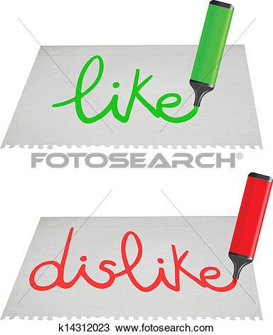 Like dislike clipart svg black and white download Clipart of Like-dislike k14312023 - Search Clip Art, Illustration ... svg black and white download