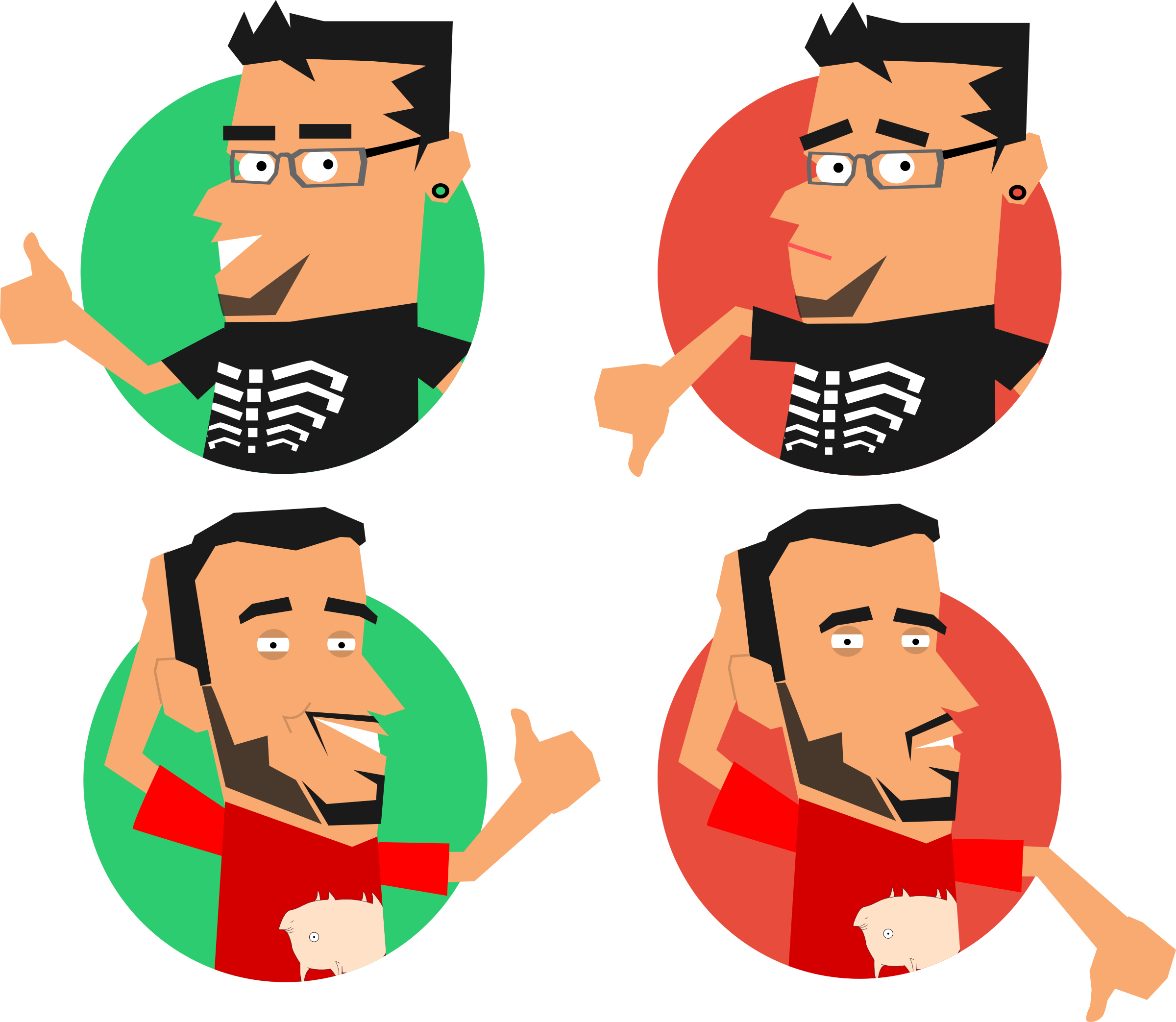 Like dislike clipart graphic free download Clipart - Luiz e Rafael - Like/Dislike graphic free download