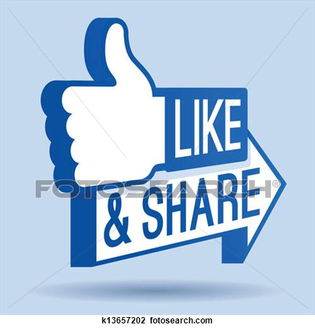 Like facebook clipart image black and white download Facebook Like And Sharesymbol Clipart image black and white download