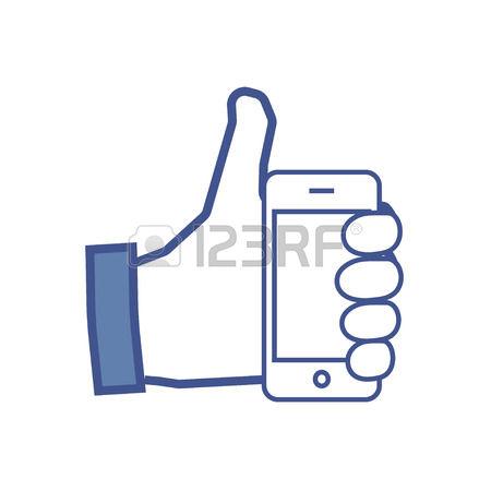 Like facebook clipart jpg black and white stock 333 Facebook Like Cliparts, Stock Vector And Royalty Free Facebook ... jpg black and white stock