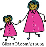 Like mother like daughter clipart