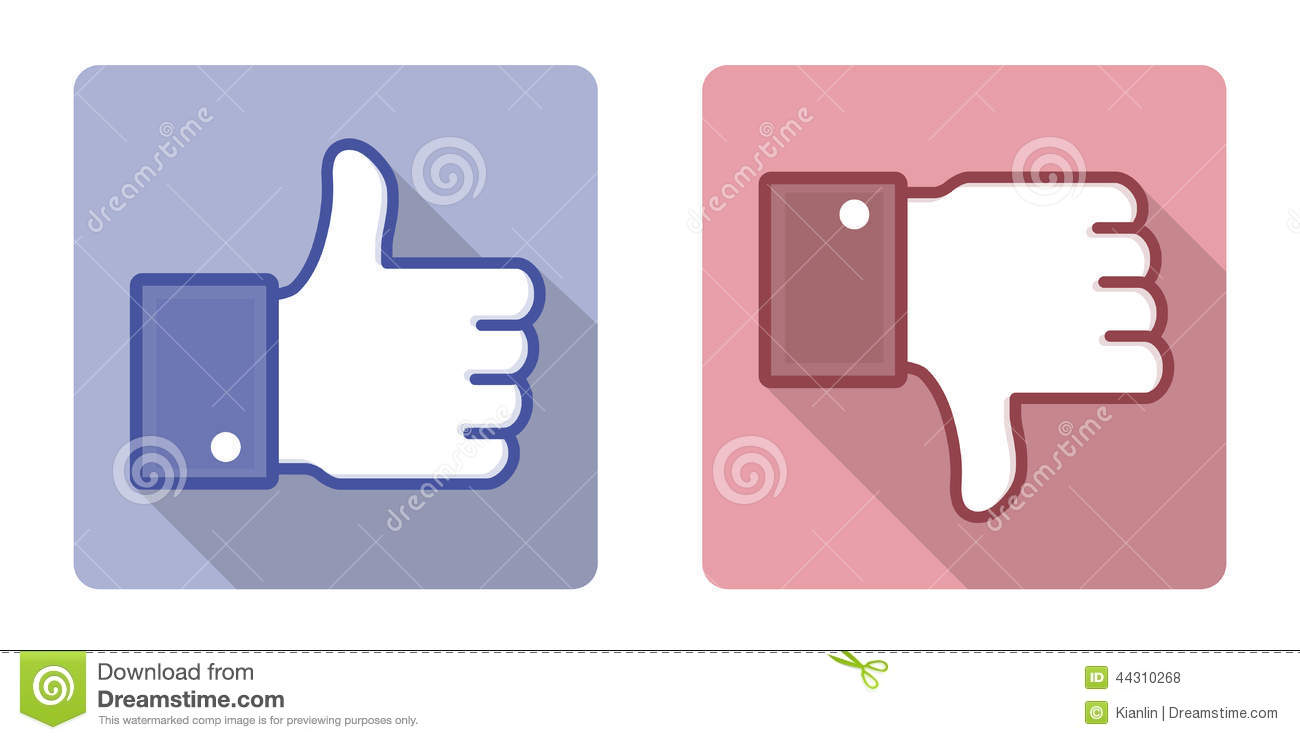 Like sign clipart jpg Vector Facebook Like Dislike Thumb Up Sign Editorial Photography ... jpg