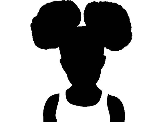 Lil girl curly hair clipart free vinyl graphic freeuse library Afro Baby Girl Afro Hair Style Afro Puff Cute Girl Natural ... graphic freeuse library