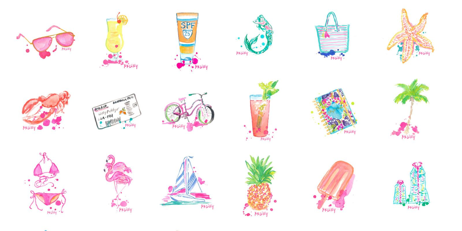 Lilly pulitzer logo clipart