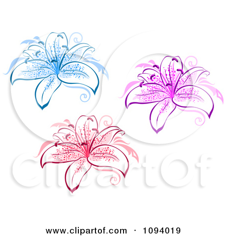 Lily graphics svg royalty free Royalty-Free (RF) Pink Lily Clipart, Illustrations, Vector Graphics #1 svg royalty free
