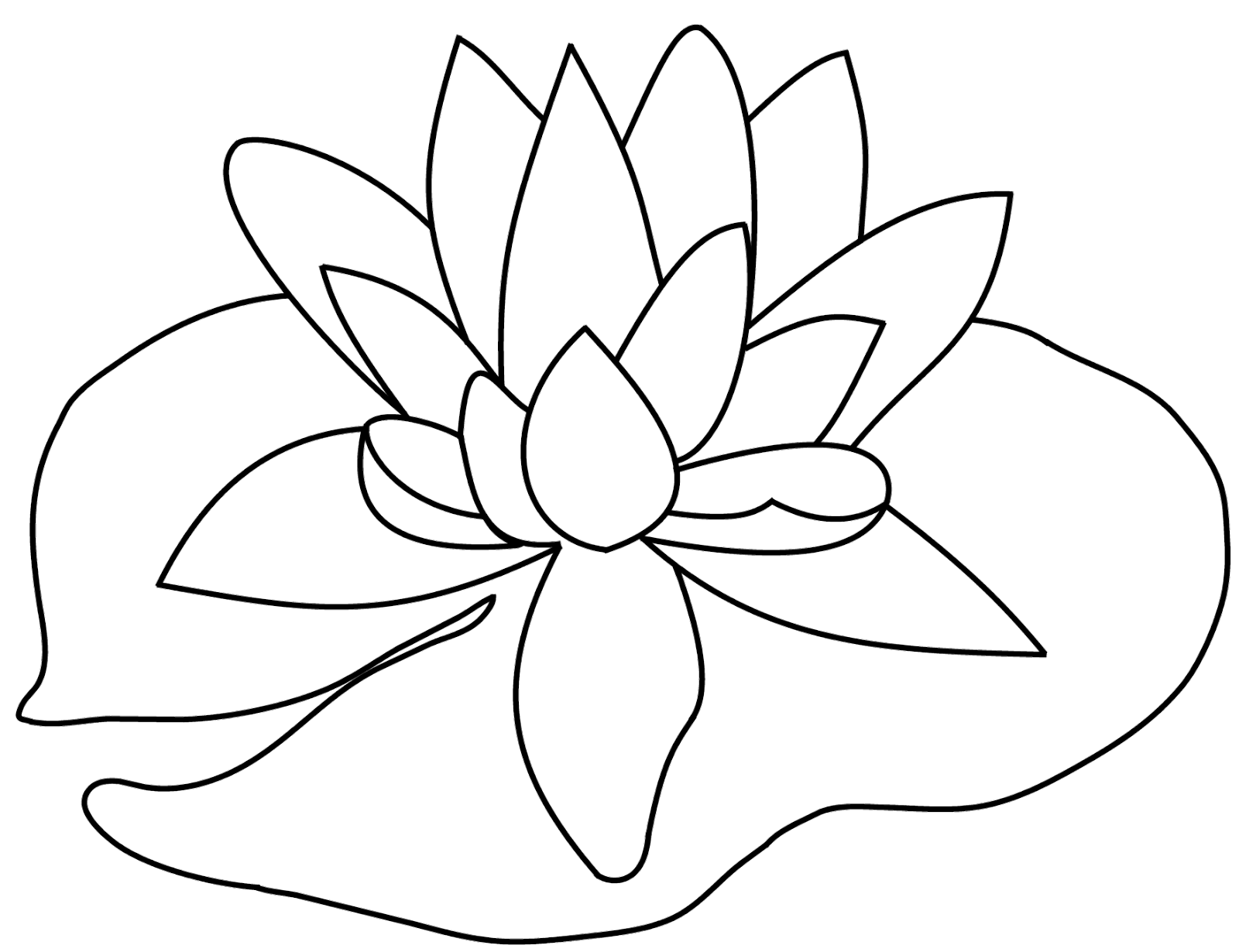 Lily pad flower clipart black and white jpg freeuse download Scribbles Designs: #F 35 Lily Pad (Free) jpg freeuse download