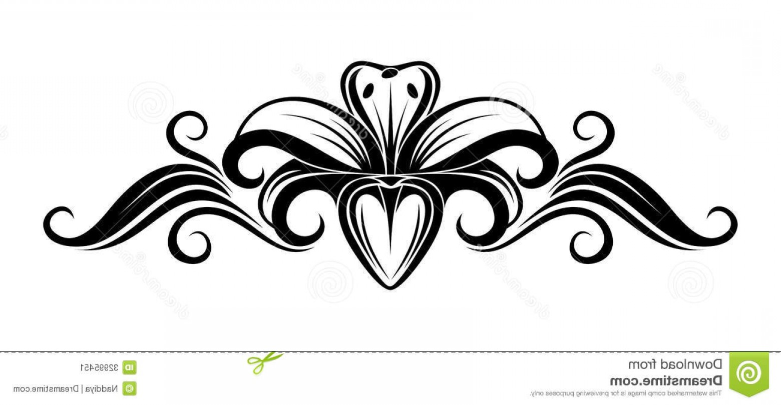 Lily stem flower black and white clipart vector free Lily Flower Clipart Black And White   SOIDERGI vector free