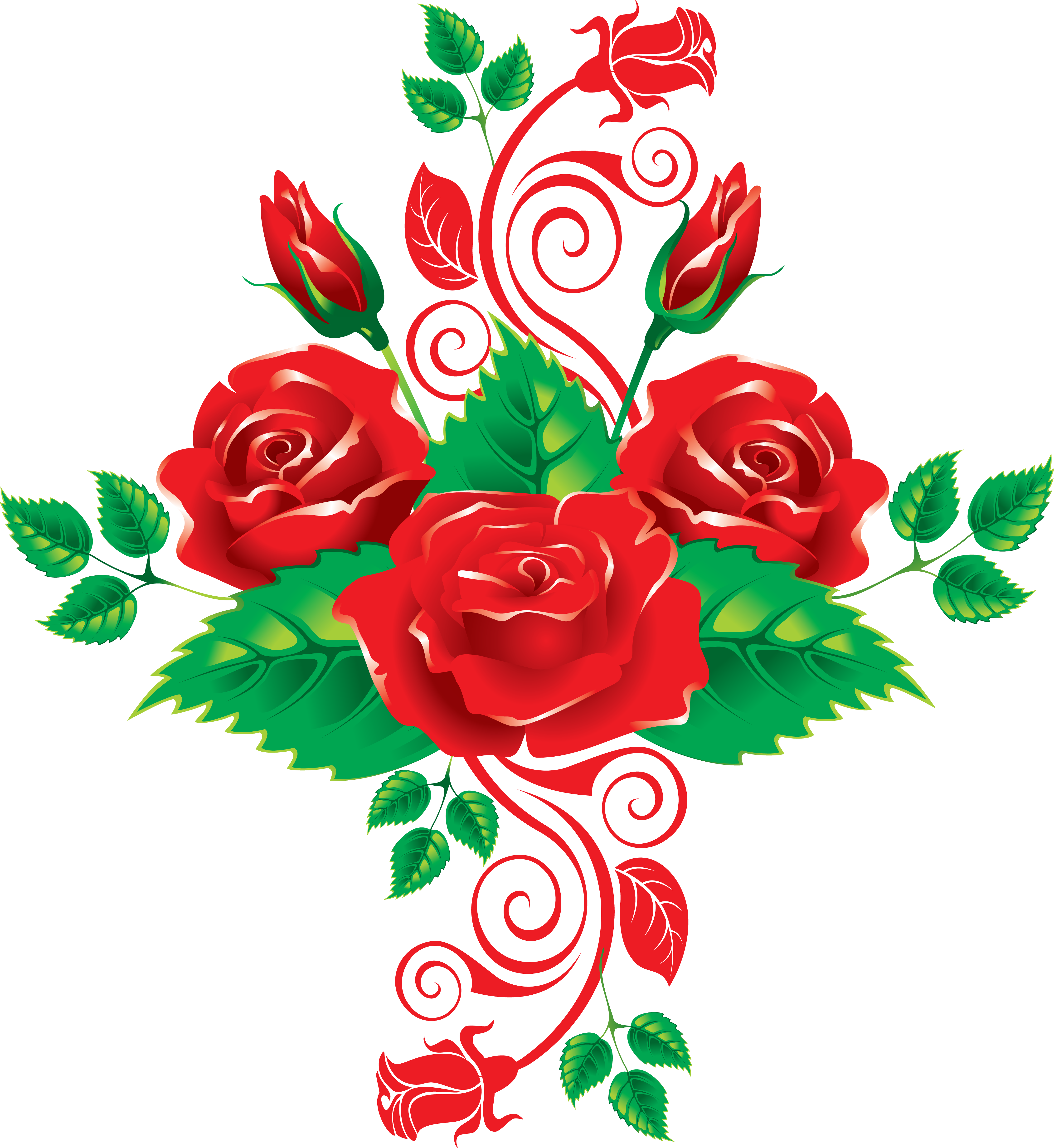 Lime green rose with heart clipart png freeuse library Rose Clip art - roses garden 4433*4828 transprent Png Free Download ... png freeuse library