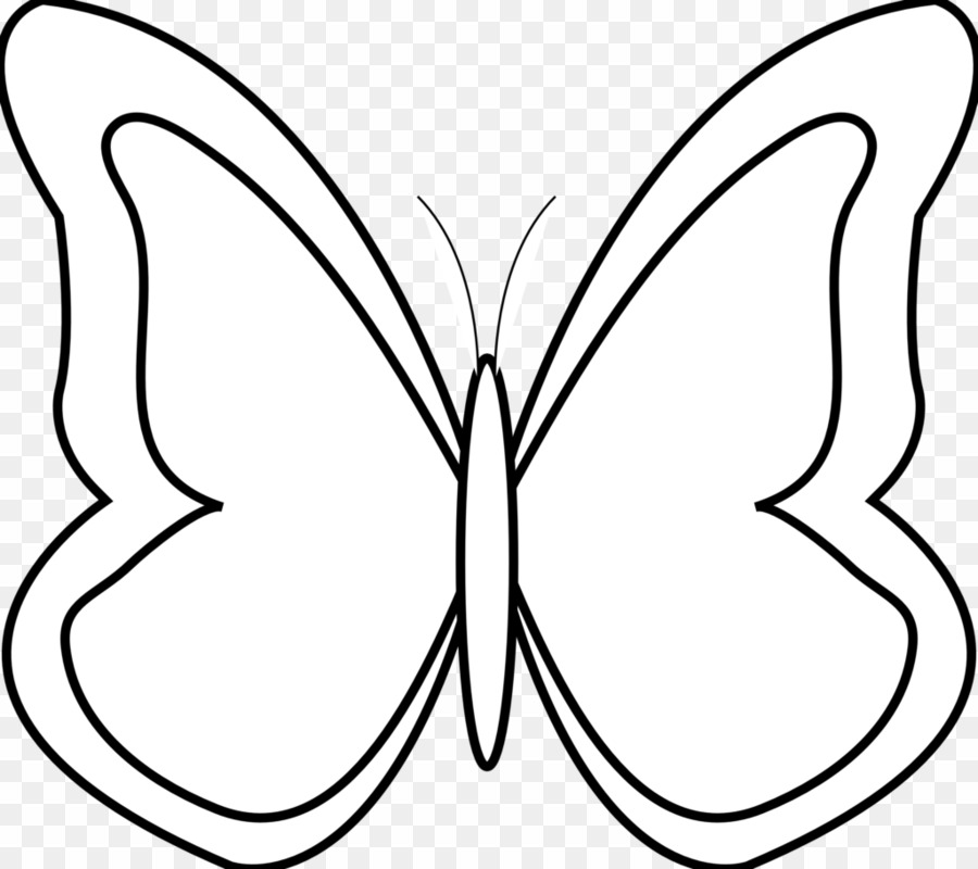 Line butterfly clipart svg black and white stock Butterfly Clip Art Black And White PNG Butterfly Clipart ... svg black and white stock