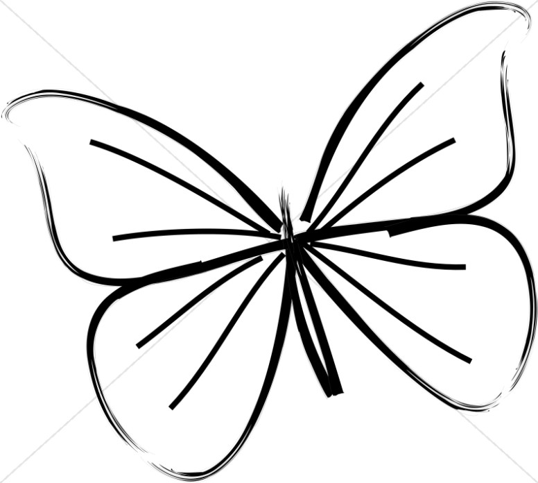 Line butterfly clipart clipart royalty free download Single Butterfly Line Art | Butterfly Clipart clipart royalty free download