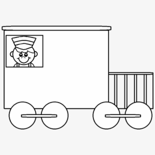 Line caboose child clipart black and white clip art transparent library Caboose Car Black And White Train Clipart Clipartfest ... clip art transparent library