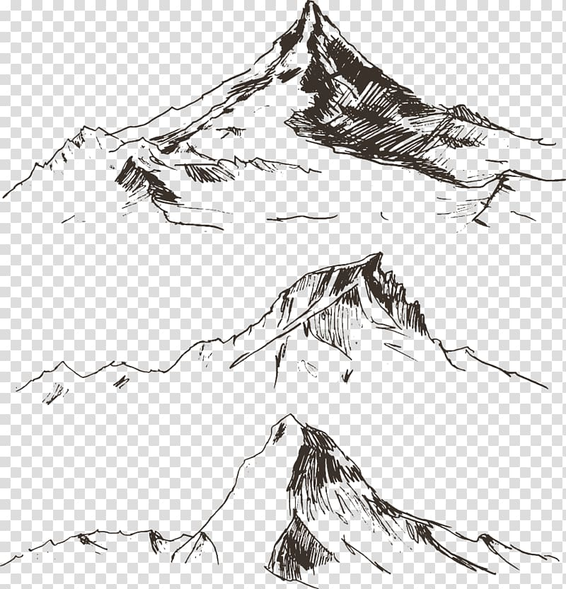 Line drawing clipart free download transparent download Free download | Mountains sketch, Drawing Mountain ... transparent download