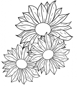 Line drawings of flowers free download clip freeuse Flowers line drawing Free vector | AI,EPS format free vector ... clip freeuse