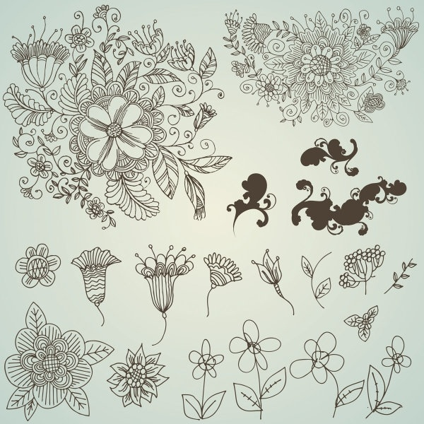 Line drawings of flowers free download banner download Line drawing free vector download (96,760 Free vector) for ... banner download