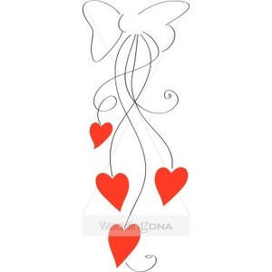 Line of hearts clip art png library library Heart line art clipart - ClipartFox png library library