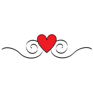 Line of hearts clip art svg black and white Heart Swirl Line Clipart - Clipart Kid svg black and white