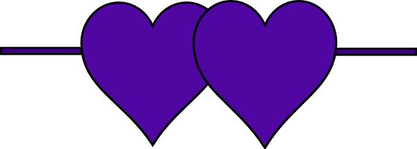 Line of hearts clip art png freeuse Double Hearts Line Clip Art at Clker.com - vector clip art online ... png freeuse