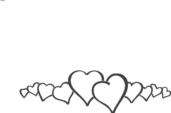 Line of hearts clip art banner stock Heart Line Clipart - Clipart Kid banner stock