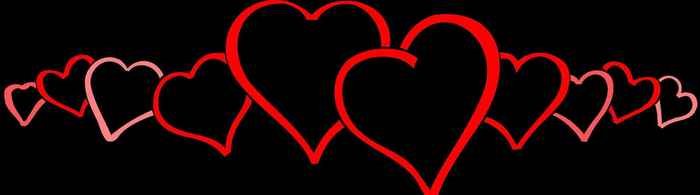 Line of hearts clip art clip transparent stock Clipart - hearts clip transparent stock