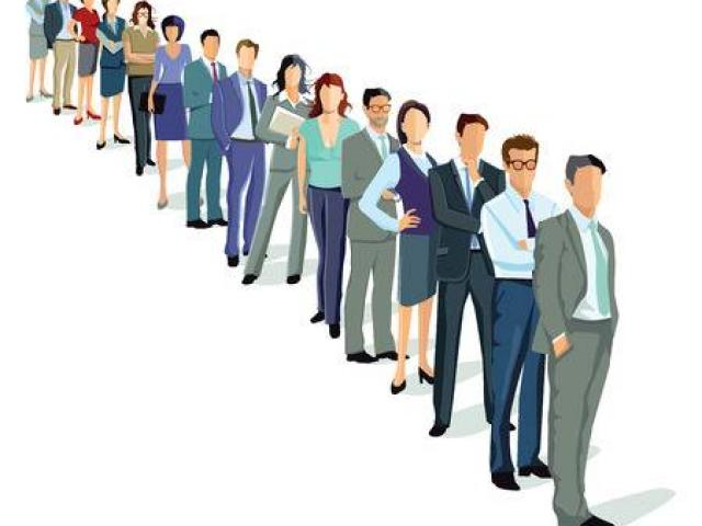 Line of people clipart black and white download People Standing In Line Clipart 22 - 335 X 355 - Making-The ... black and white download