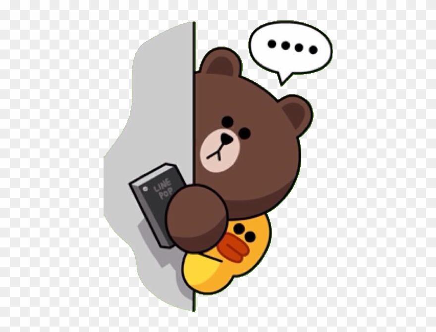 Line sticker clipart svg 496 X 640 29 - Line Friends Brown Sticker Clipart (#3700245 ... svg