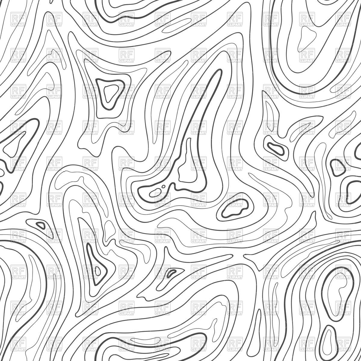 Topographical clipart clipart black and white Contour topographic map background Vector Image – Vector ... clipart black and white