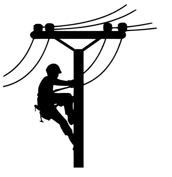 Lineman clipart electrical graphic black and white download New to FransEverythingShop on Etsy: Lineman Decal (6.00 USD ... graphic black and white download