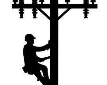Lineman clipart electrical picture freeuse download lineman decal on Etsy, a global handmade and vintage ... picture freeuse download