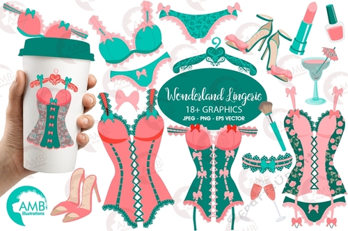 Lingeria clipart svg freeuse stock Bachelorette Clipart, Bachelorette Party Clipart, Lingerie Clipart, Corset,  Wedding, Girls Night Out Clip Art, AMB-2215 svg freeuse stock
