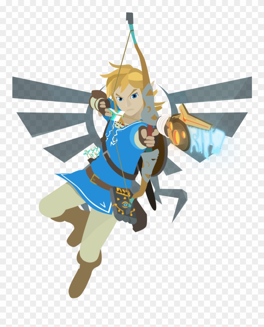 Link breath of the wild clipart graphic transparent How To Draw Cartoon Faces Bird - Link Loz Breath Of The Wild ... graphic transparent