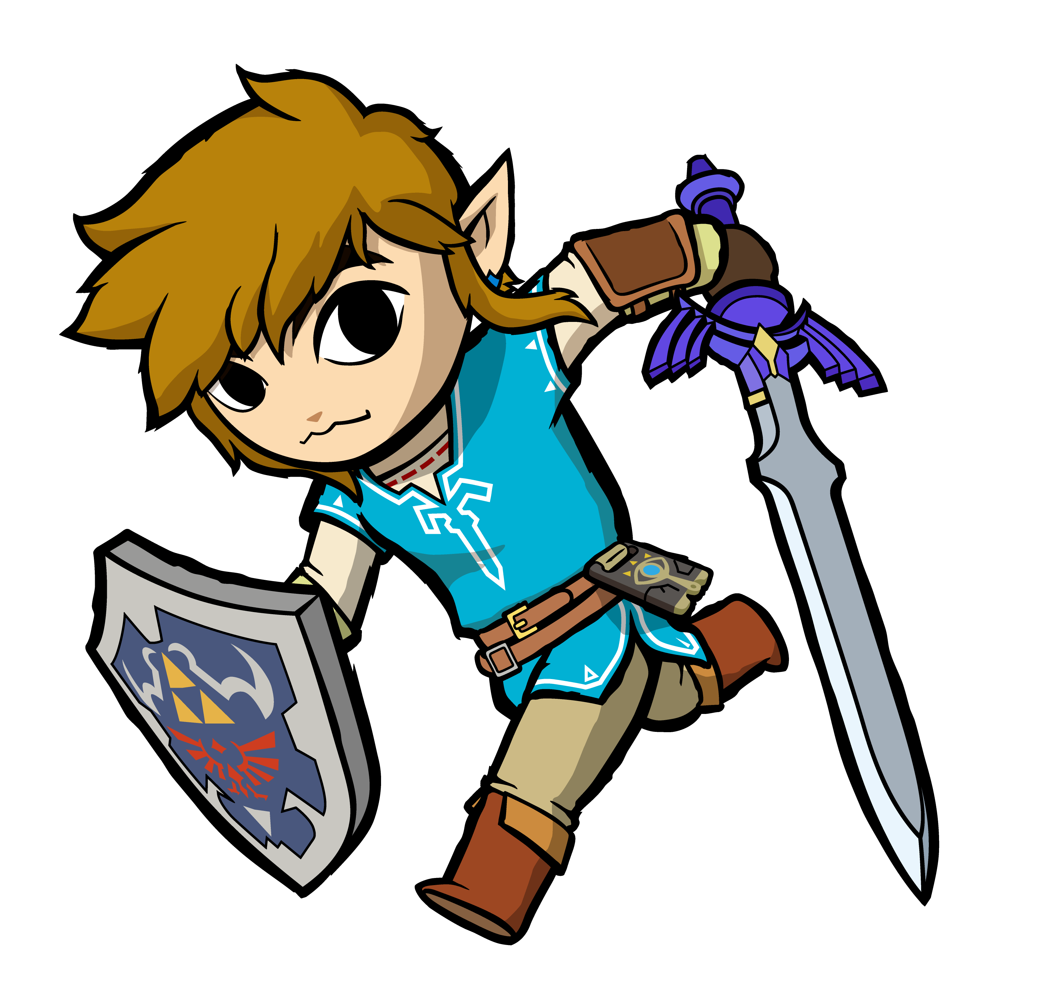 Link breath of the wild clipart clip art freeuse download OC ART] I drew Breath of the Wild link in the toon link ... clip art freeuse download
