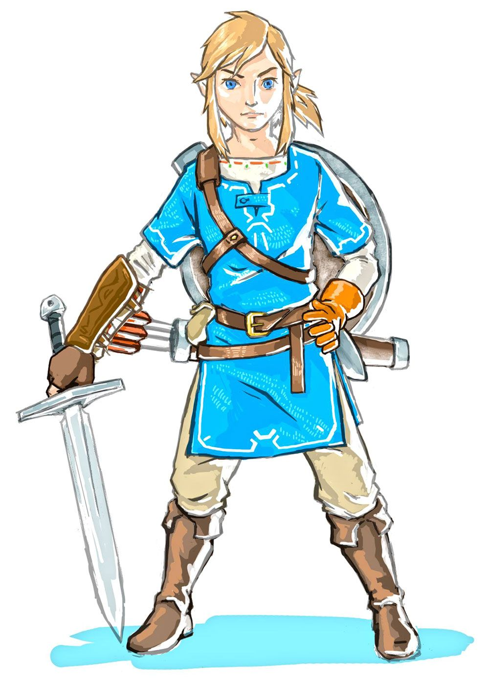 Link breath of the wild clipart picture black and white Link & Sword Concept   The Legend of Zelda   Legend of zelda ... picture black and white