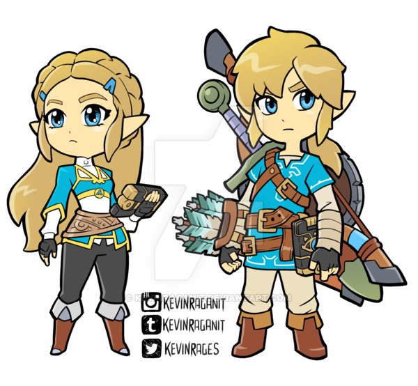 Link breath of the wild clipart png library library Zelda and Link Breath of the Wild by KevinRaganit.deviantart ... png library library