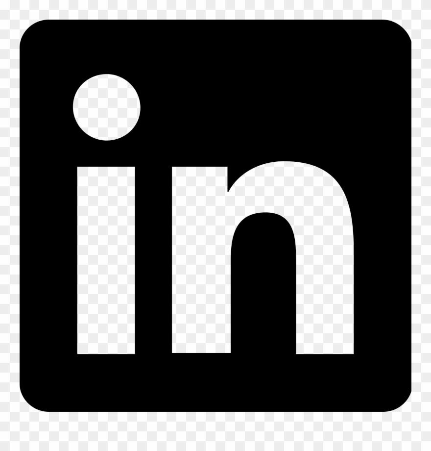 Linkedin white clipart clip art freeuse library Linkedin - Zeljkoobrenovic - Linkedin Logo Black Png Clipart ... clip art freeuse library