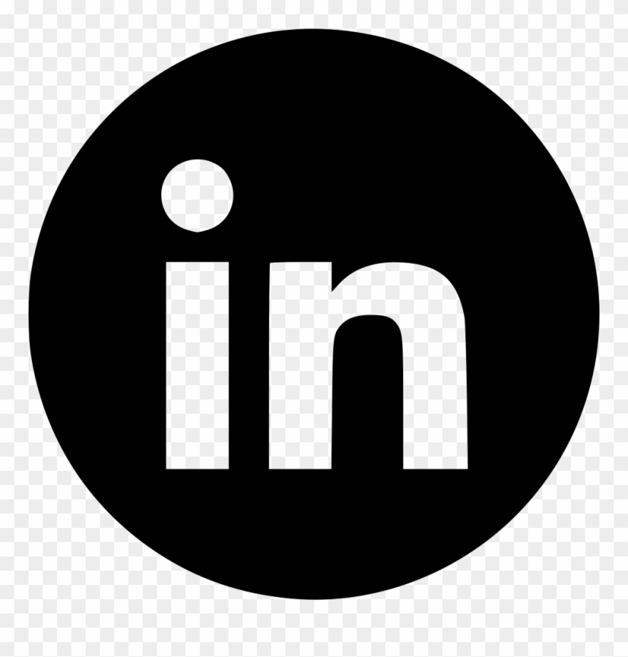 Linkedin white clipart png black and white Banner Black And White Download Linkedin Svg - Instagram ... png black and white