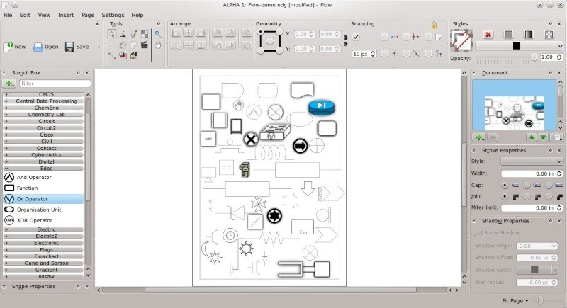 Linux make pdf from cliparts svg stock Top 10 Microsoft Visio Alternatives for Linux - It\'s FOSS svg stock