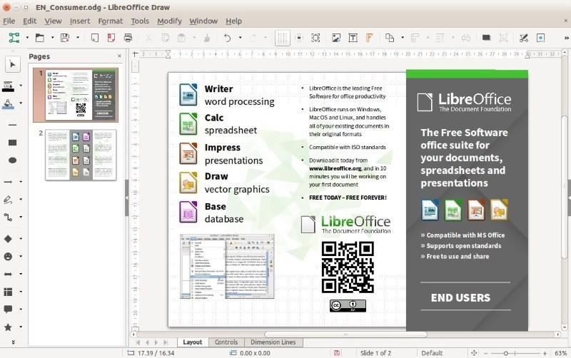 Linux make pdf from cliparts banner stock Top 10 Microsoft Visio Alternatives for Linux - It\'s FOSS banner stock
