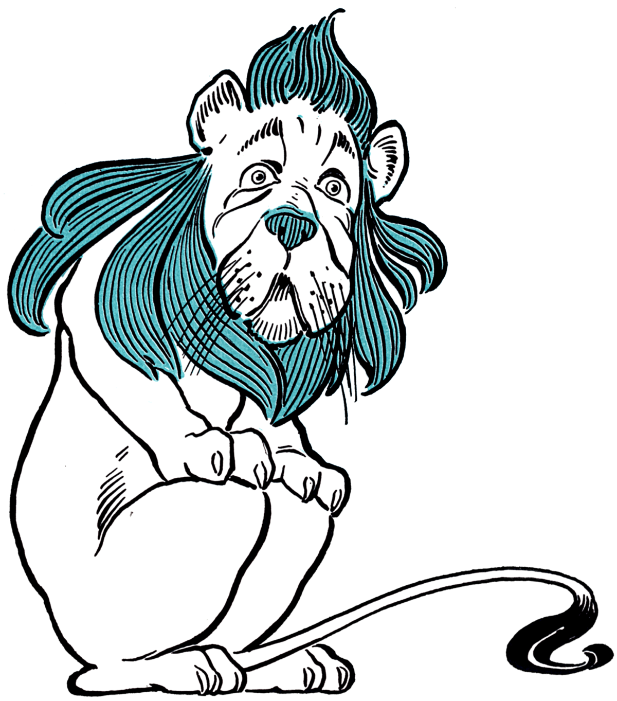 Straw house clipart black and white svg freeuse Cowardly Lion - Wikipedia svg freeuse