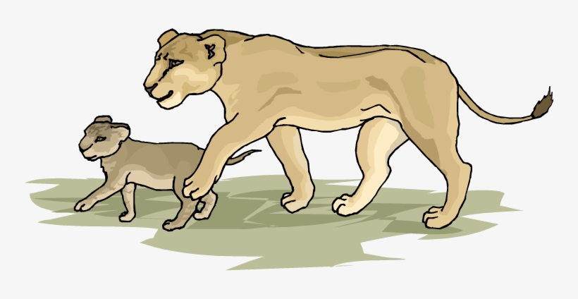 Lion and cub clipart picture freeuse Lion Clipart Lion Cub - Lion And Cub Clip Art PNG Image ... picture freeuse
